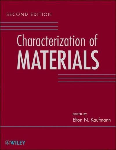 Characterization of Materials. 3 Volume Set