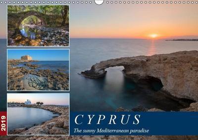 Cyprus, the sunny Mediterranean paradise (Wall Calendar 2019 DIN A3 Landscape)