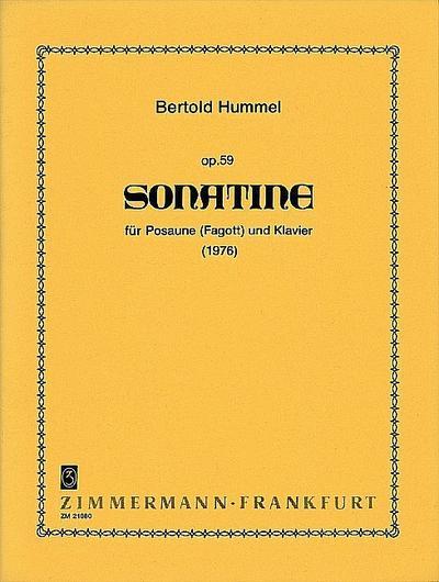 Sonatine op.59 fürPosaune und Klavier