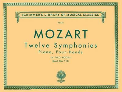 12 Symphonies - Book 2: Nos. 7-12: Schirmer Library of Classics Volume 72 Piano Duet