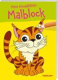 Mein Knuddeltier-Malblock grün. Ab 4 Jahren; Malbücher und -blöcke; Ill. v. Poppins, Oli; Deutsch; s/w