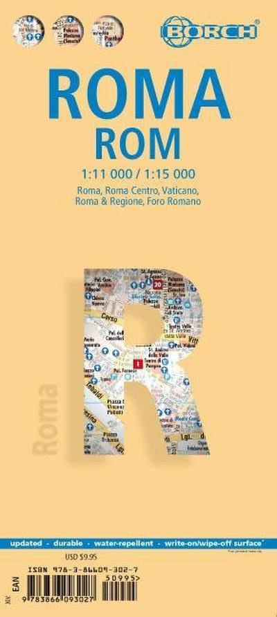 Rom / Roma 1 : 11 000 / 1 : 15 000: Roma, Roma Centro, Vaticano, Roma & Regione,  Foro Romano