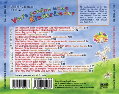 Viele schöne neue Kinderlieder - Ich schenk dir einen Regenbogen, Augen Ohren Nase u.a.m.