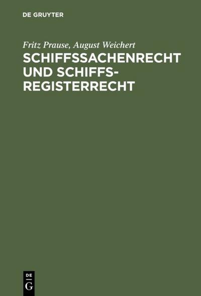 Schiffssachenrecht und Schiffsregisterrecht