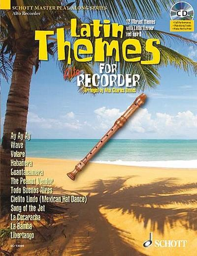 Latin Themes, for Alto Recorder, w. Audio-CD