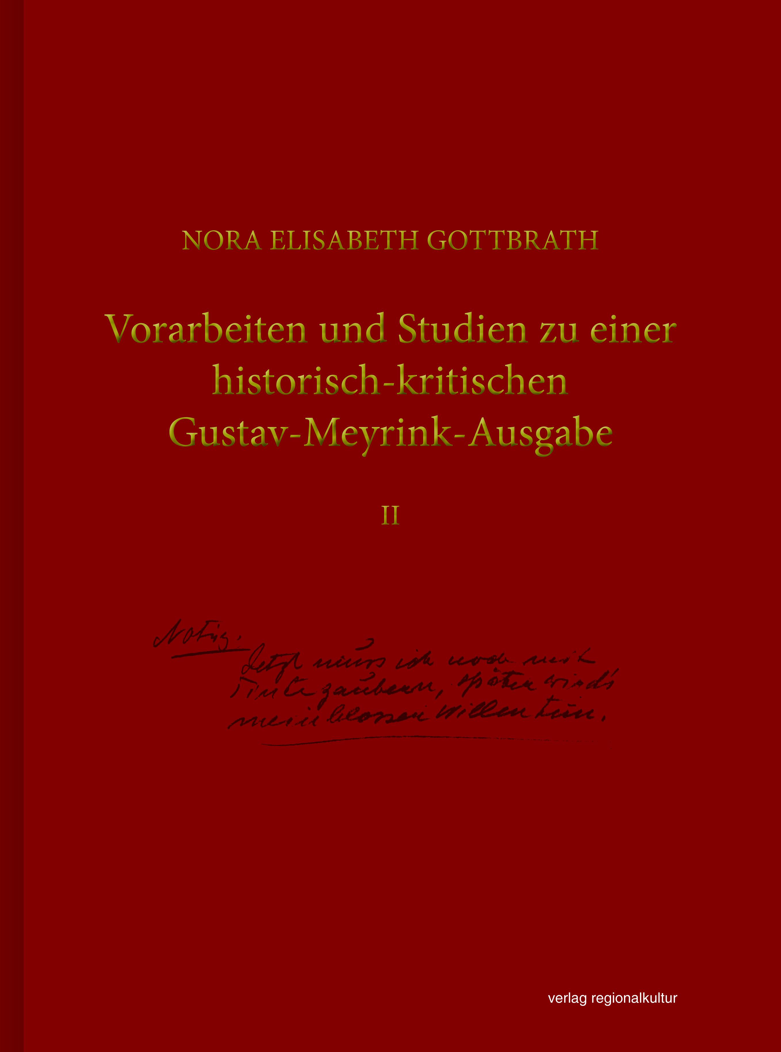 Vorarbeiten und Studien zu einer historisch-kritischen Gustav-Meyrink-Ausga ...