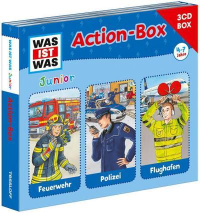 WAS IST WAS Junior Action-Box Feuerwehr/ Polizei/ Flughafen