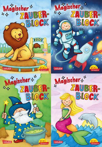Pixi kreativ Serie Nr. 25: 4er-Bundle: Neue magische Zauberblöcke