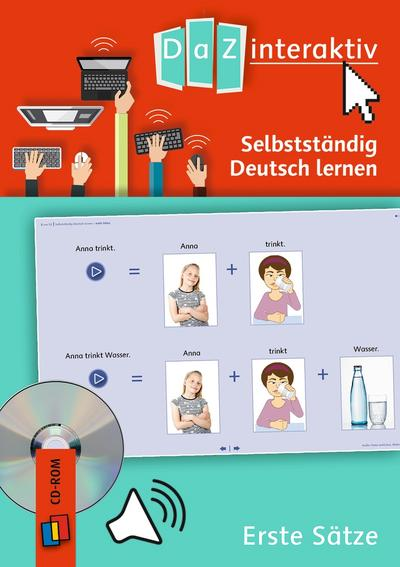 Selbstständig Deutsch lernen - Erste Sätze, 1 CD-ROM (Einzellizenz)