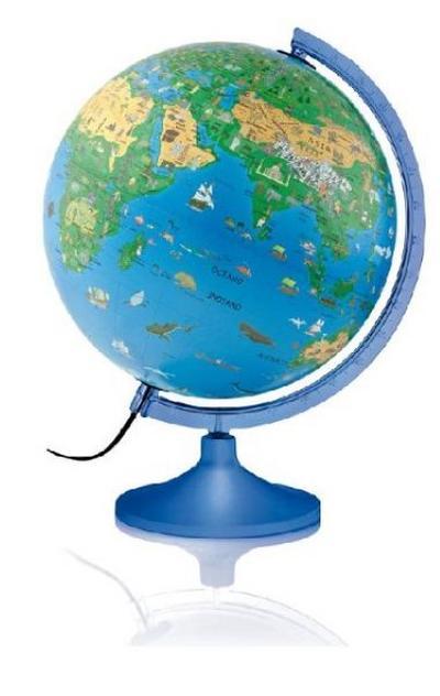 Atmosphere Family Solid: Kinderleuchtglobus 30 cm, blaue Kunststoffausstattung, mit Begleitkarte (Globus für Kinder) - Räthgloben 1917 - Landkarte, Deutsch, , Kinderleuchtglobus 30 cm, blauer Kunststoffausstattung, mit Begleitkarte, Kinderleuchtglobus 30 cm, blauer Kunststoffausstattung, mit Begleitkarte