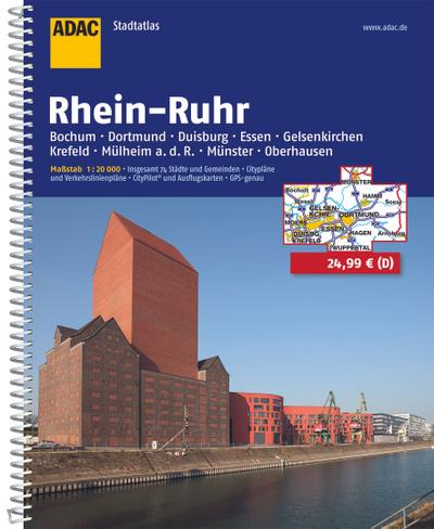 ADAC Stadtatlas Rhein-Ruhr (ADAC Stadtatlanten 1:20.000)