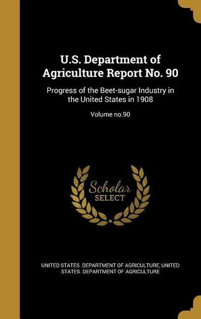 US DEPT OF AGRICULTURE REPORT