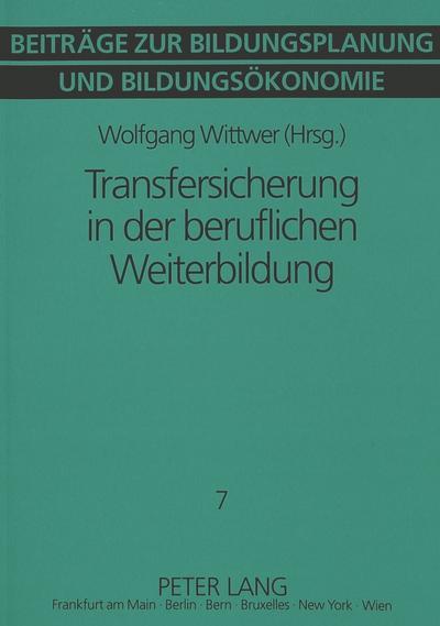 Transfersicherung in der beruflichen Weiterbildung