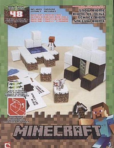 Jazwares Minecraft 16712 - Papierset zum Selberbasteln, Schneebiom, 48 Teile - Minecraft - Spielzeug, Deutsch, , ,