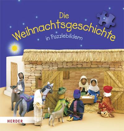 Die Weihnachtsgeschichte in Puzzlebildern