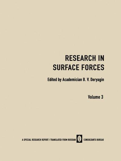 Research in Surface Forces