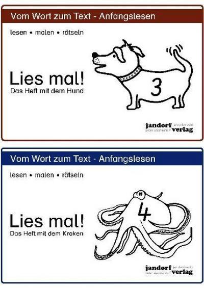 Lies mal! Hefte 3 und 4: Das Heft mit dem Hund / Das Heft mit dem Kraken