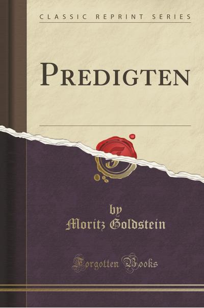 Predigten (Classic Reprint)
