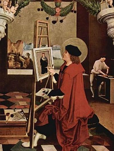Niklaus Manuel Deutsch - Hl. Lukas, die Madonna malend, Altarflügel - 500 Teile (Puzzle)