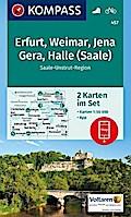 Erfurt, Weimar, Jena, Gera, Halle (Saale) 1 : 50 000
