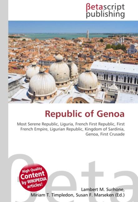 Republic of Genoa - Lambert M. Surhone -  9786130370480