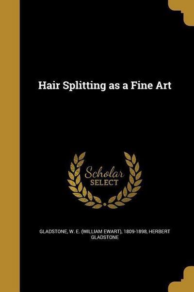 HAIR SPLITTING AS A FINE ART