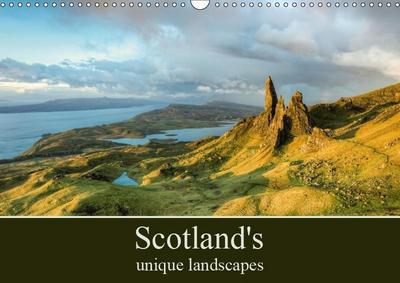 Scotland's unique landscapes (Wall Calendar 2019 DIN A3 Landscape)