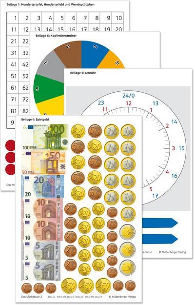 Das Mathebuch 2 - Arbeitsbeilagen (identisch mit  978-3-619-25442-2): passend zu Schülerbuch 978-3-619-25470-5 und 978-3-619-25440-8