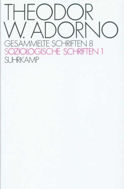 Gesammelte Schriften Soziologische Schriften. Tl.1