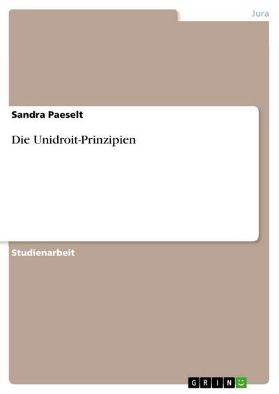 Die Unidroit-Prinzipien