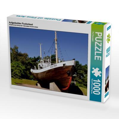 Aufgedocktes Fischerboot (Puzzle)