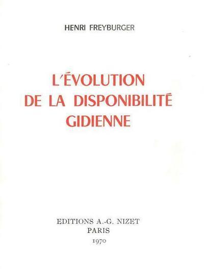 L' Evolution de la Disponibilite Gidienne