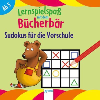 Sudokus für die Vorschule. Lernspielspaß mit dem Bücherbär; Ill. v. Reimers, Silke/Bertrand, Fréderic; Deutsch
