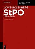 Löwe/Rosenberg. Die Strafprozeßordnung und das Gerichtsverfassungsgesetz Band 5. §§ 158-211
