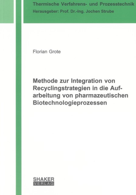 Florian Grote / Methode zur Integration von Recyclingstrateg ... 9783844007046