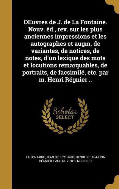 FRE-OEUVRES DE J DE LA FONTAIN
