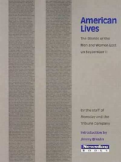 American Lives: The Stories of the Men and Women Lost on September 11