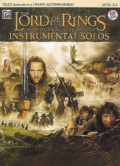 The Lord of the Rings Instrumental Solos for Strings: Cello (with Piano Acc.), Book & CD [With CD (Audio)]