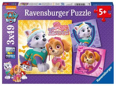 Bezaubernde Hundemädchen Puzzle 3 x 49 Teile