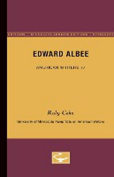Edward Albee - American Writers 77: University of Minnesota Pamphlets on American Writers