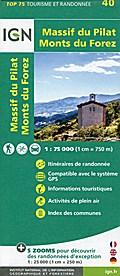 Massif du Pilat - Monts du Forez 1:75 000