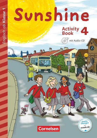 Sunshine - Early Start Edition 4. Schuljahr - Neubearbeitung und Nordrhein-Westfalen - Activity Book mit Audio-CD, Minibildkarten und Faltbox