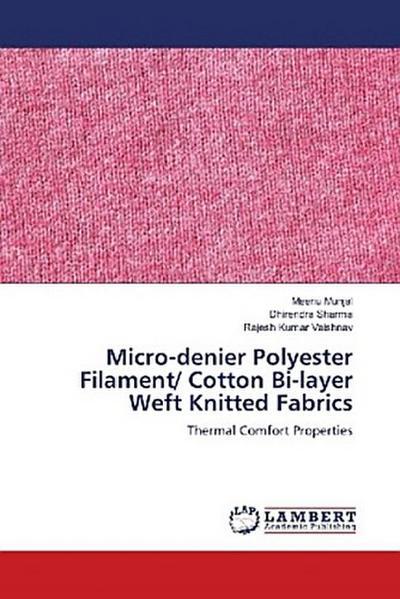Micro-denier Polyester Filament/ Cotton Bi-layer Weft Knitted Fabrics
