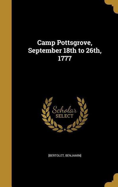 CAMP POTTSGROVE SEPTEMBER 18TH