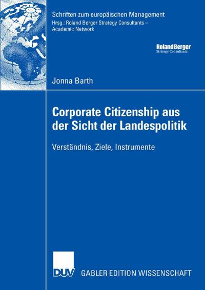 Corporate Citizenship aus der Sicht der Landespolitik