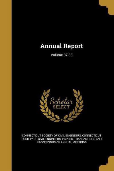 ANNUAL REPORT VOLUME 37-38