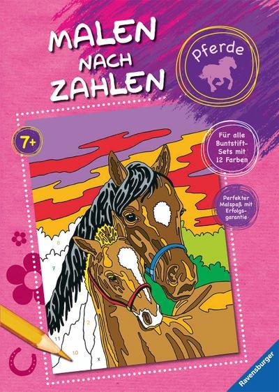 Malen nach Zahlen: Pferde   ; Ill. v. Wagner, Maja; Deutsch; durchg. farb. Ill. -