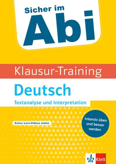 Klausur-Training - Deutsch Textanalyse und Interpretation