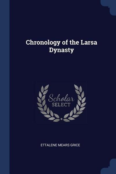 Chronology of the Larsa Dynasty