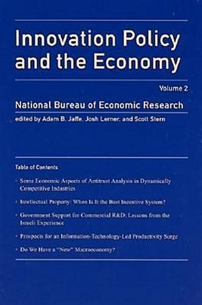 Innovation Policy and the Economy, Volume 2 (Nber Innovation Policy and the Economy) - Mit Pr - Taschenbuch, Englisch, Adam B. Jaffe, ,